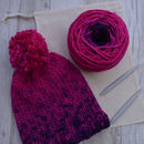 Knit Your Own Merino Wool Bobble Hat Kit