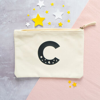 Cosmic Letter Initial Pouch