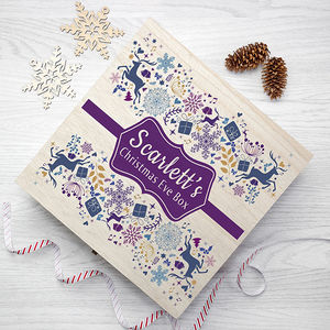 Personalised Traditional Christmas Eve Box - christmas eve