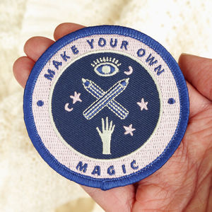Empowering Creative Motivation Embroidered Patch - create your own luck