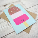 Cute Fab Ice Lolly Greetings Card Retro Ice Cream