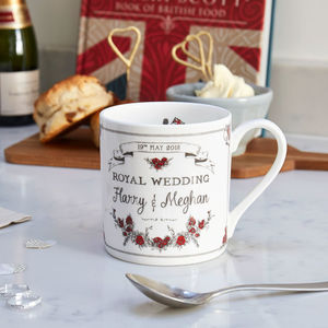 Royal Wedding Mug Harry And Meghan - tableware