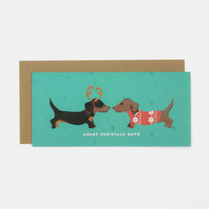 Merry Christmas Dawg Greeting Card - cards