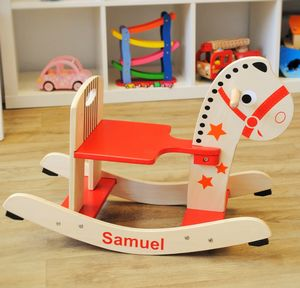 Personalised Wooden Rocking Horse - rocking toys