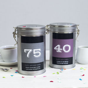 Personalised Birthday Coffee Gift Tin
