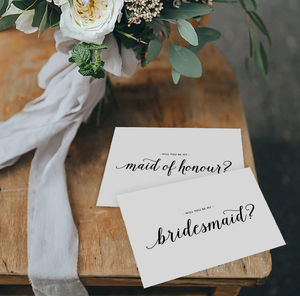 'Will You Be My Maid Of Honour' Card - be my bridesmaid