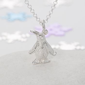 Silver Penguin Necklace by Lily Charmed