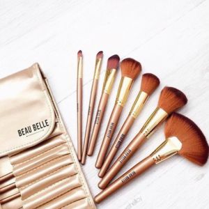 21pc Gold Makeup Brush Set - beauty