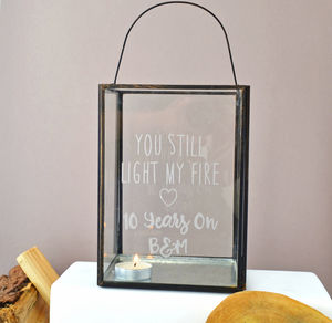 You Still Light My Fire Personalised Lantern - outdoor lights