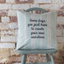 Personalised Embroidered Cushion Eastnor Sage Stripe