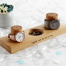 Personalised Couples Watch Stand With Ring Dish