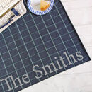 Personalised Blue Tweed Picnic Blanket