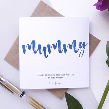 Mummy | Personalised Foiled Mother's Day Card