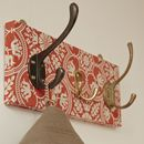 Tile Fabric Mismatched Coat Rack With Three Hooks