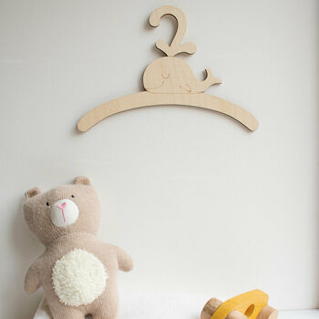 Childrens Coat Hanger With Whale Design