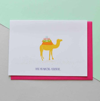 Have An Amazing Adventure Moving Travelling Card