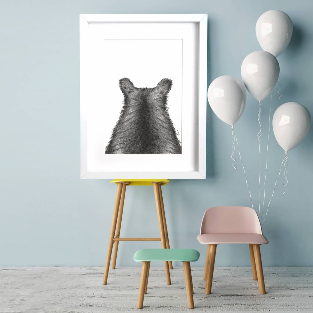 Fine Art Bear Giclee Print 'The Grizzly One'