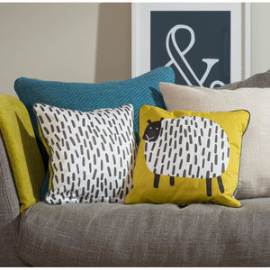 Dotty Sheep Cushion - living room