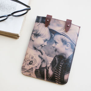 Personalised Photo Leather Kindle Case - tech accessories for her