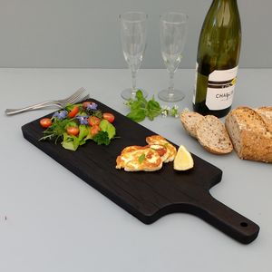 Blackened Oak Paddle Serving Board