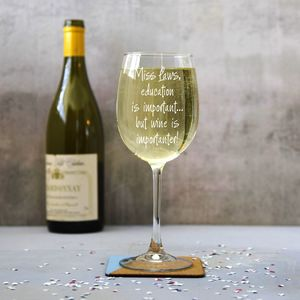 Personalised 'Importanter' Wine Glass