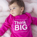 Think Big Pink Baby Grow / All In One