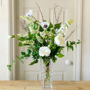 Faux Wild English White Garden Arrangement