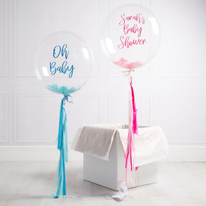 Personalised Baby Shower Confetti Balloon - baby shower