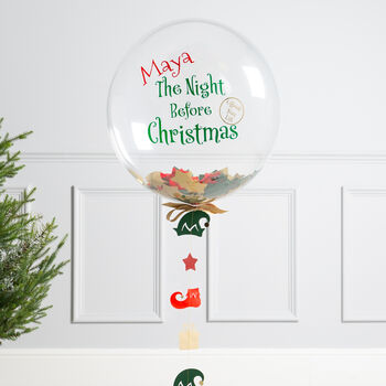 Personalised Night Before Christmas Bubble Balloon