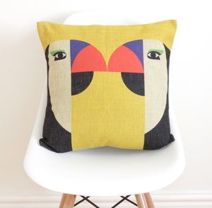 Kissing Parrots Cushion Cover
