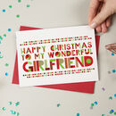 Wonderful Girlfriend Christmas Card
