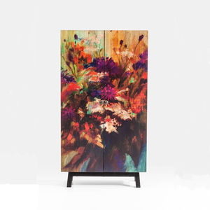 Abstract Paint Effect Cabinet