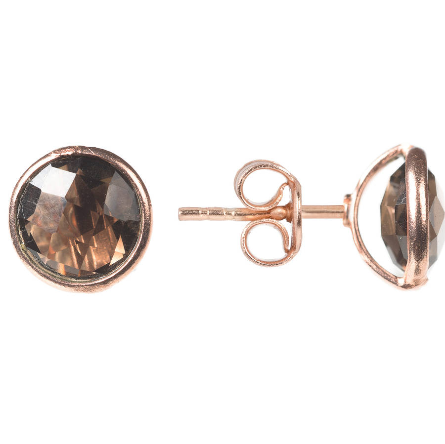 Rose Gold Plated Sterling Silver Earrings