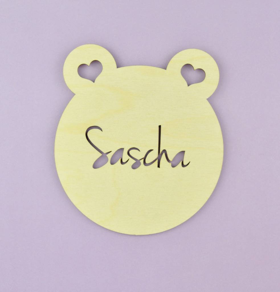 personalised nursery door sign and wall art teddy bear by not a ...