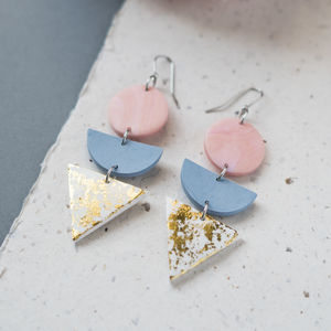 'Melba' Geometric Stack Earrings
