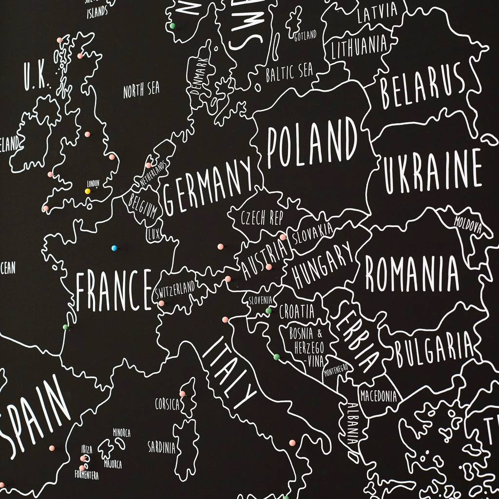 Personalised europe pinboard map by louisa elizabeth personalised europe pinboard map gumiabroncs Choice Image
