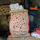 Personalised Glitter Star Christmas Sack