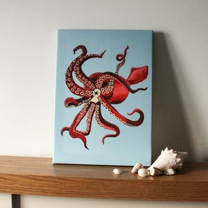 Squid Glow In The Dark Canvas