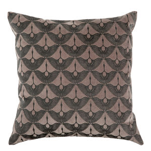 Hand Printed Japandi Crane Cushion