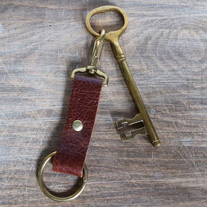 Customised Leather Key Fob