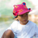 Kids Sun Hat In Hippo Print