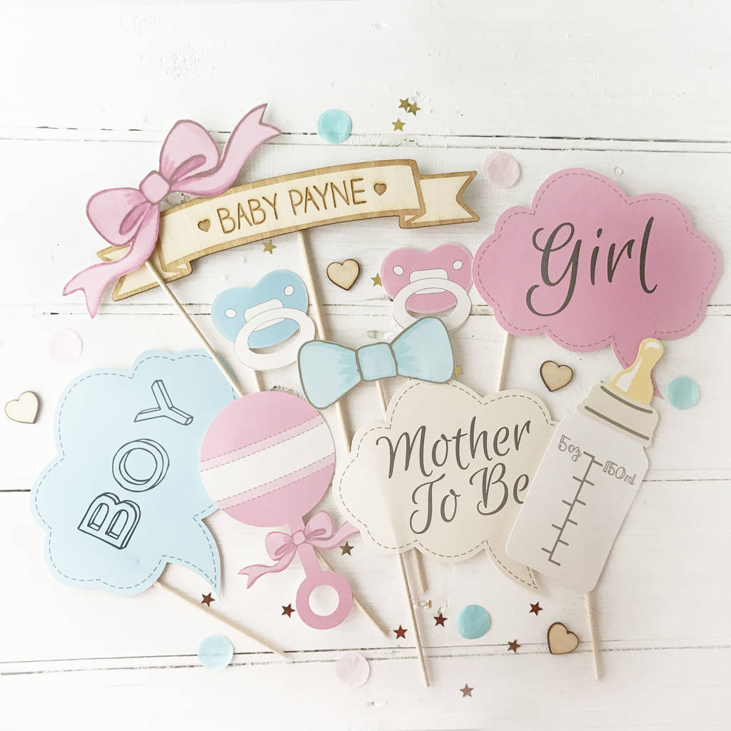 baby shower photo booth props by postbox party notonthehighstreet
