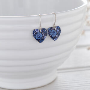 Forget Me Not Small Heart Earrings