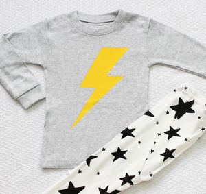 Lightning And Stars Children's Long Sleeves Pyjamas - clothing