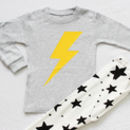 Lightning And Stars Children's Long Sleeves Pyjamas