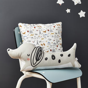 Dog Cushion I Love Paris Print - gifts £25 - £50 for her