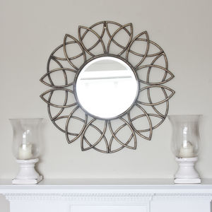 Palloma Metal Bronze Flower Mirror