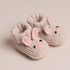 Baby Cashmere Bunny Booties - clothing