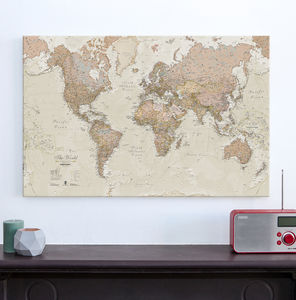 Canvas Antique Map Of The World - maps & locations