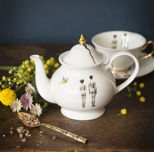 The Models Fine Bone China Teapot - dining room